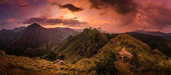 Photography of mountains during sunset