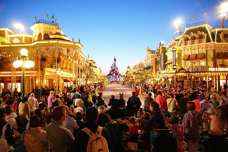 Photography of people watching on Cinderellas Castle