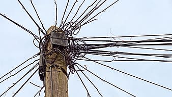 Brown electricity post