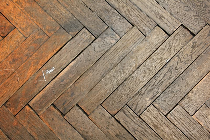 Brown wooden tile surface