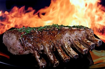 Photo of grilled meat ribs