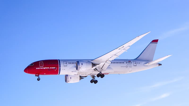White and red airplane