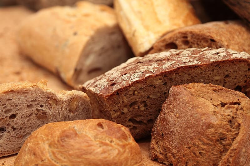 Close up photography of breads