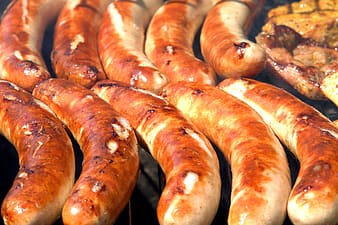 Close up photo of sausage