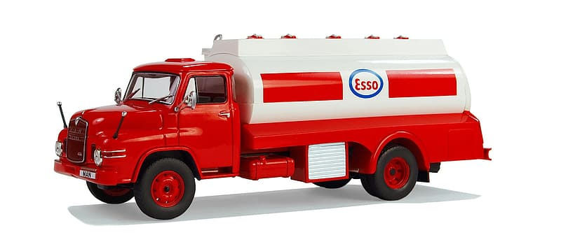 Red and white Esso water tank toy