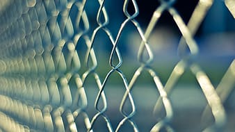 Chain link fence focus photography