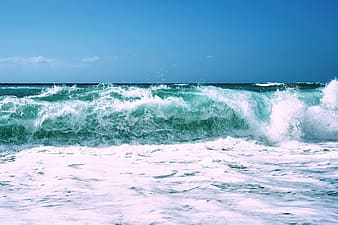 Time lapse photography of beach waves