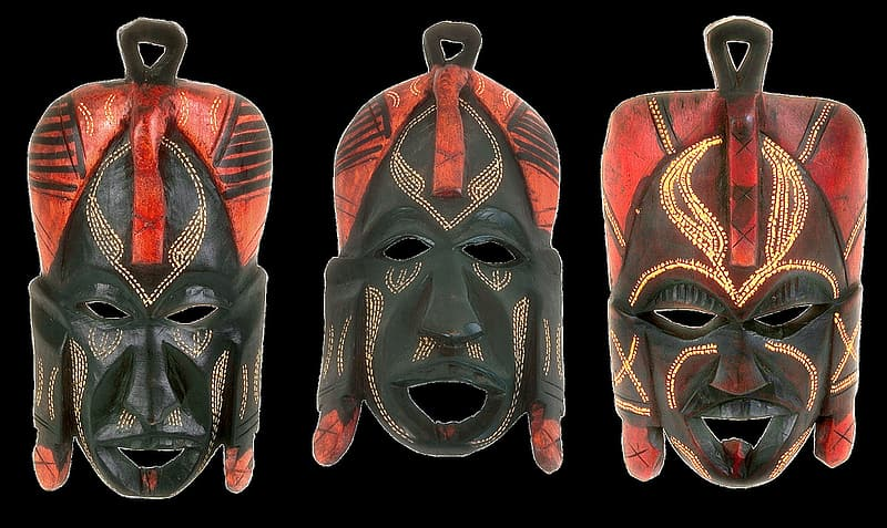 Black and brown leather mask