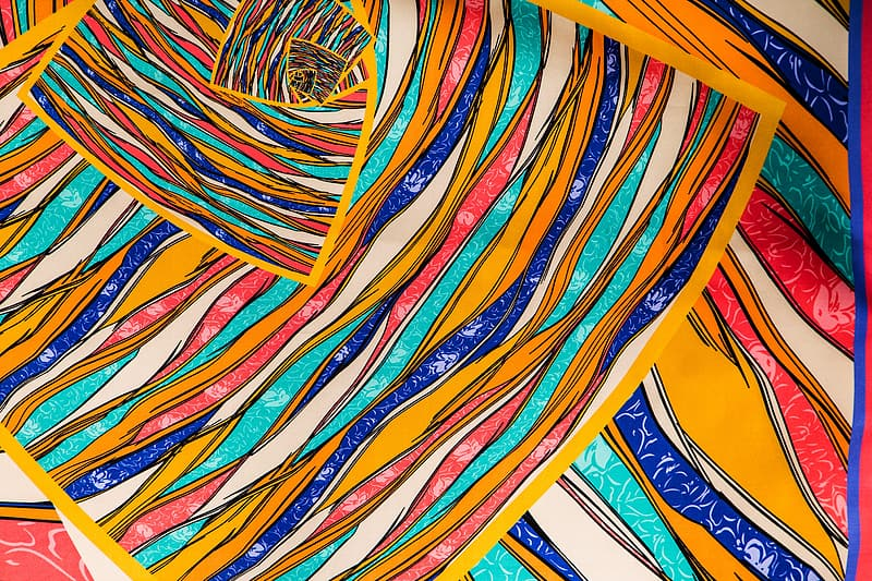 Yellow, blue, and red abstract painting