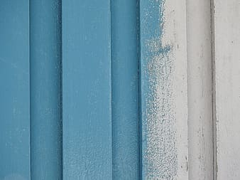 Blue painted white wooden wall