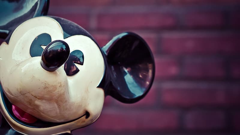 Low-angle photo of Mickey Mouse head