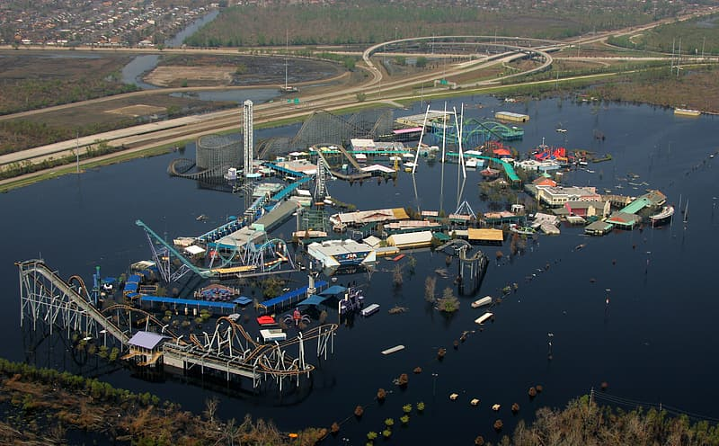 Hurricane Flooding, Amusement Park