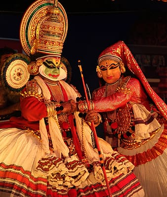 Two traditional woman performing