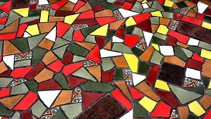 Assorted-color mosail tile lot
