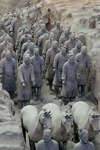 Terracotta solider, China