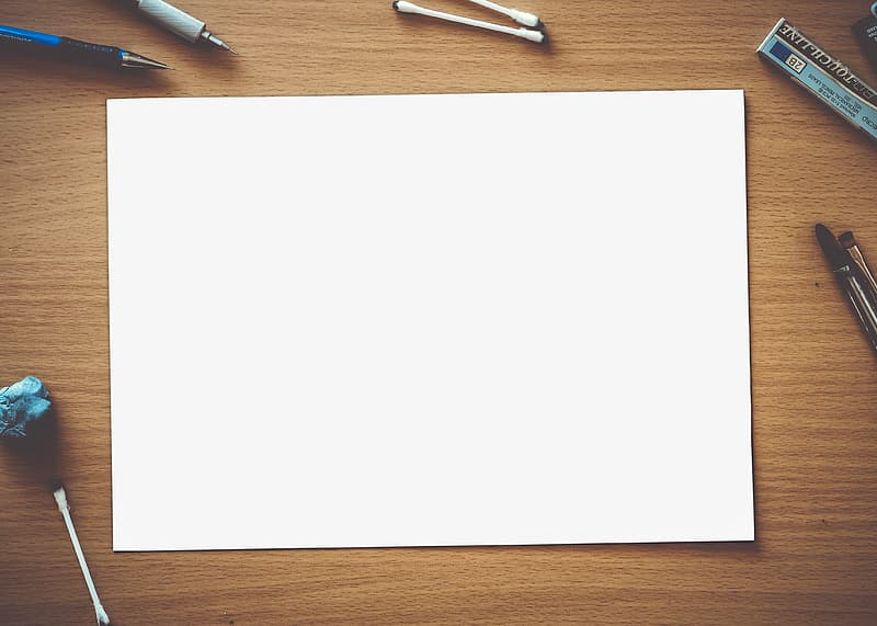 White printing paper on table