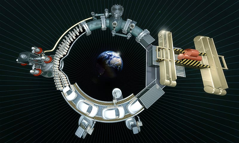 Earth space station concept