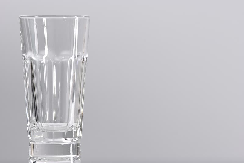 Emptied clear shot glass