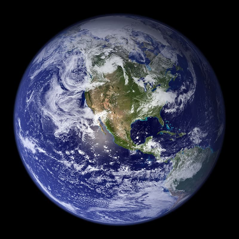 Close up photo of planet earth