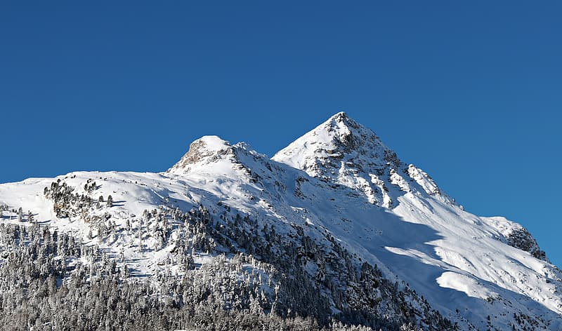 Mountain cover by snow