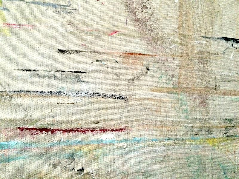 White red and brown abstract painting