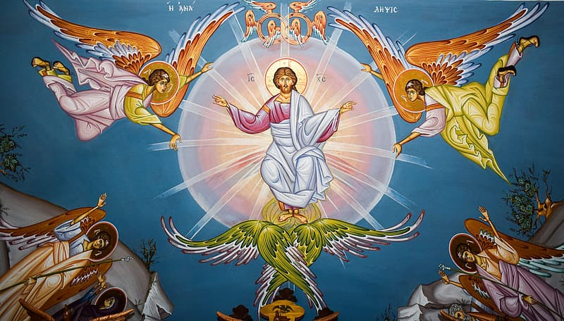 Ascension Of Christ, Iconography