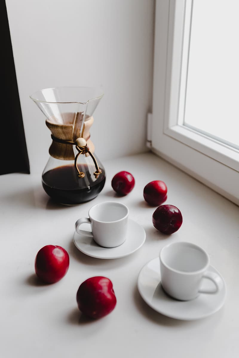Delicious morning freshly brewed filter coffee