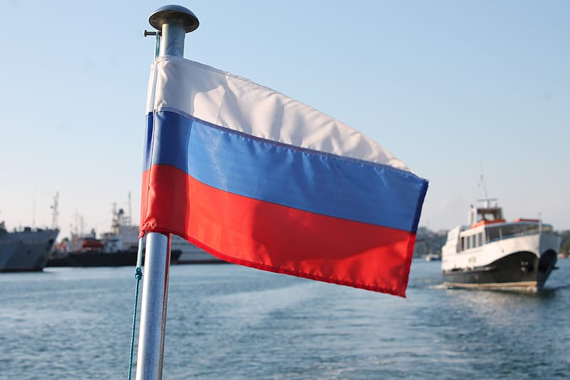Flag Of Russia, Russia On The Sea