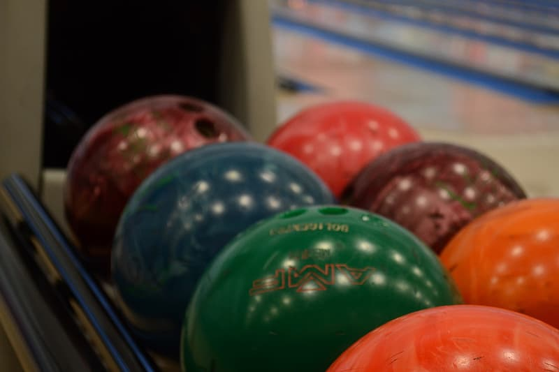 Bokeh shot of bowling balls