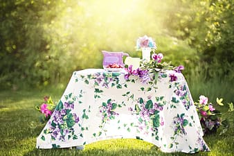 White and green table clothe during daytime