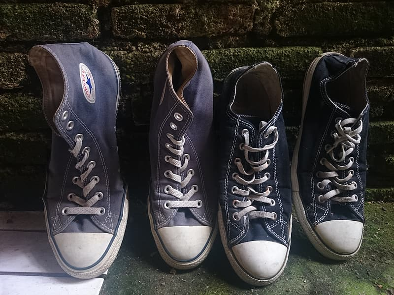 Black and white converse all star high top sneakers