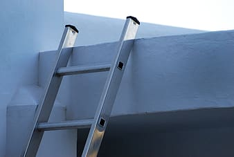 Gray metal ladder