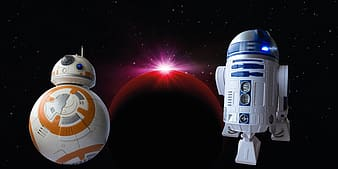 BB-8 and R2-D2 wallpaper