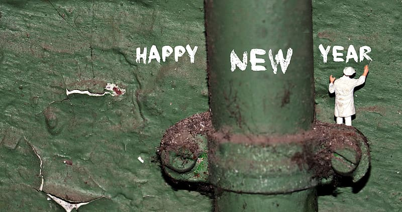 Happy New Year-printed paper