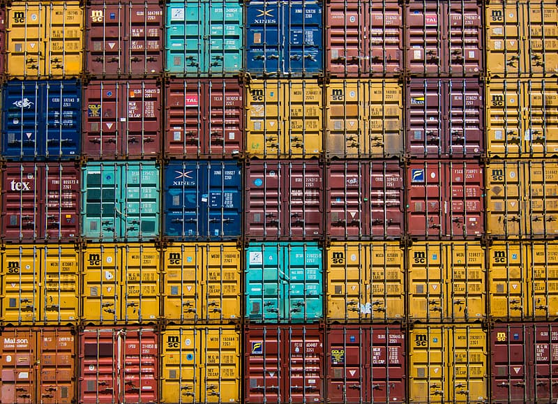 Freight container lot