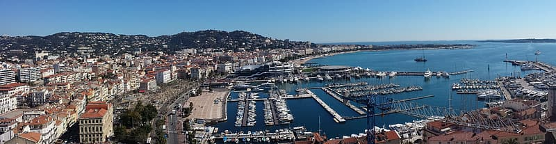 Aerial photography of port