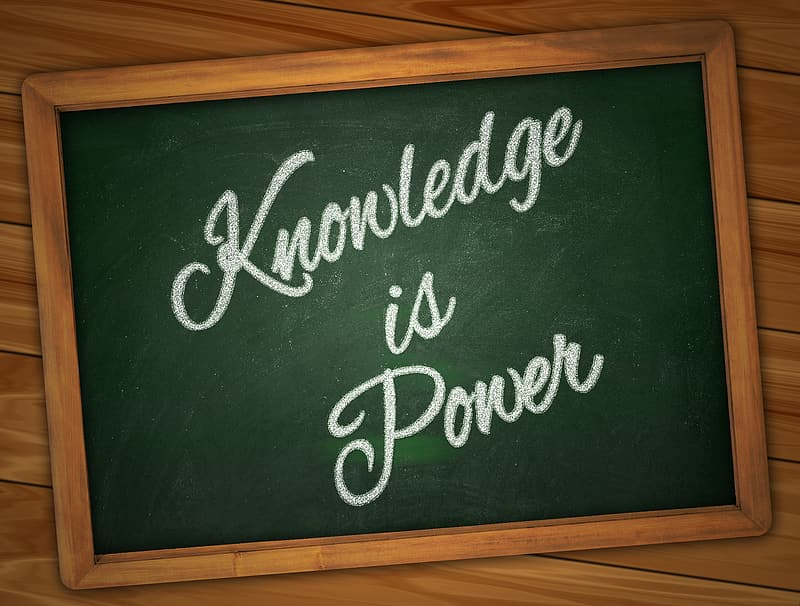 Knowledge is Power text overlay