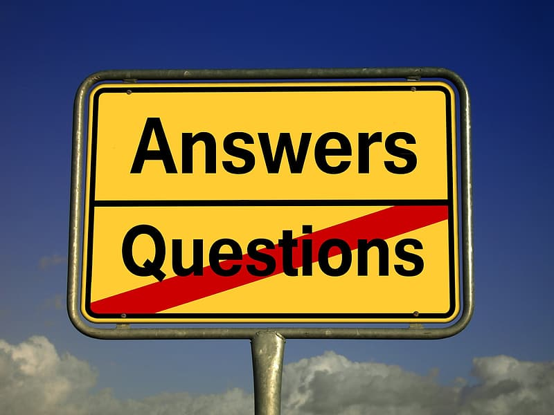 Answers Questions signage