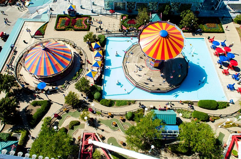 Aerial view photography of circus park