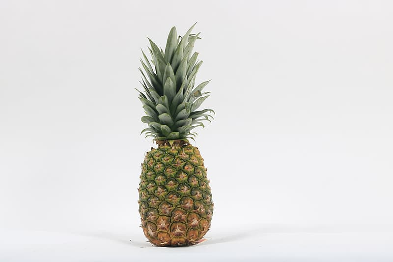 Green and brown pineapple