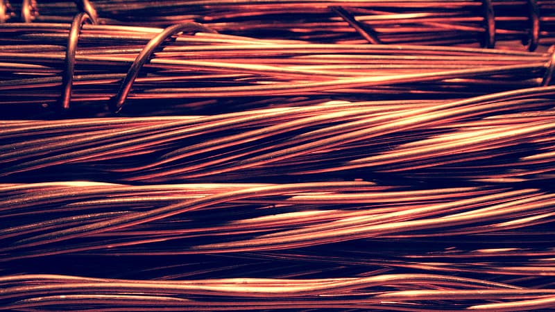 Brown cable wires