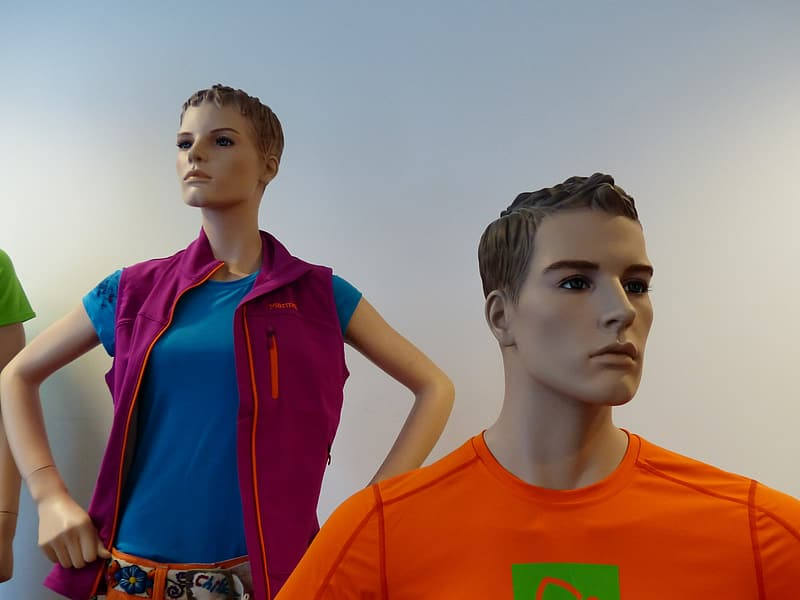 Two men and woman mannequins