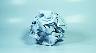 White crumbled paper