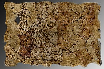 Brown and black map