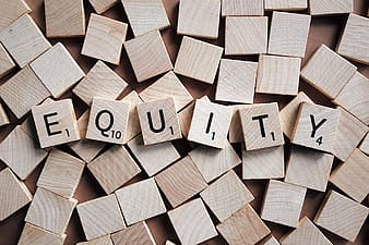 Scrabble blocks equity wallpaper