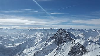 Aerial photography of mountain covered with snow