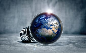 Globe in lightbulb