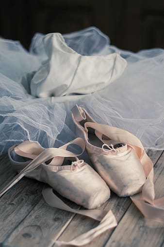 Women's white ballerina dress and shoes