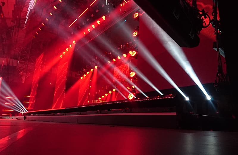 Red and black stage