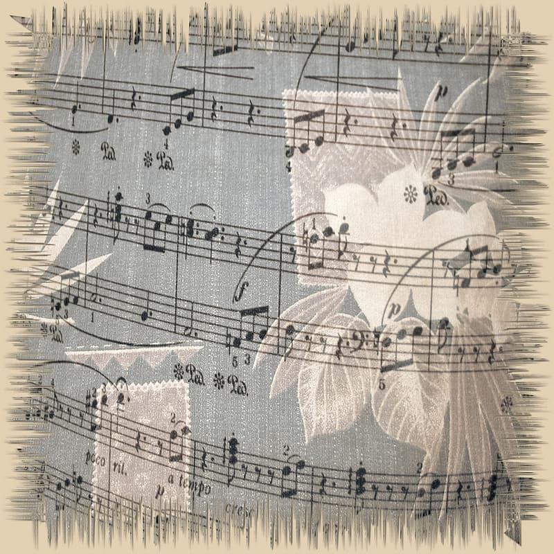Music sheet painting